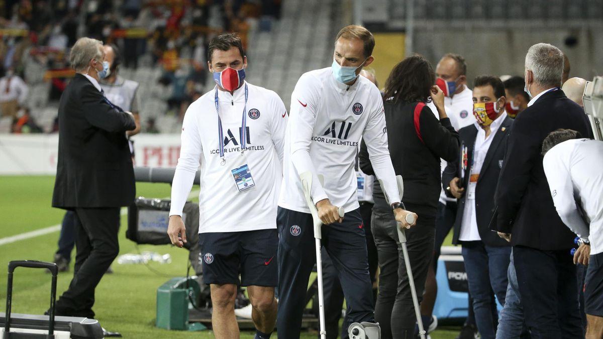Zsolt Löw (à gauche), l'assistant de Thomas Tuchel au Paris Saint-Germain
