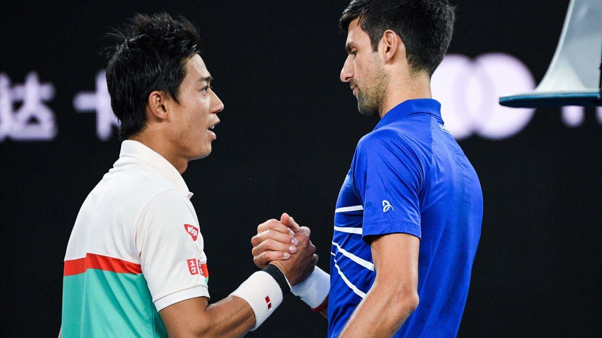 Novak Djokovic és Kei Nishikori