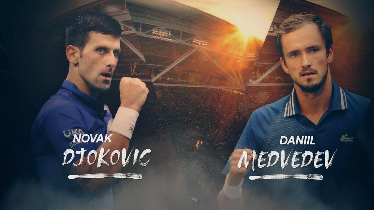 Novak Djokovic - Daniil Medvedev live im TV und im Livestream und Liveticker bei Eurosport