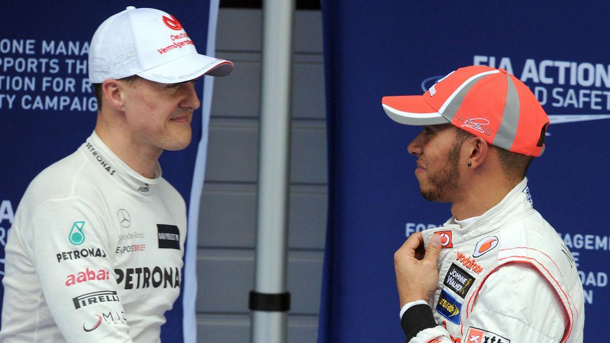Michael Schumacher und Lewis Hamilton