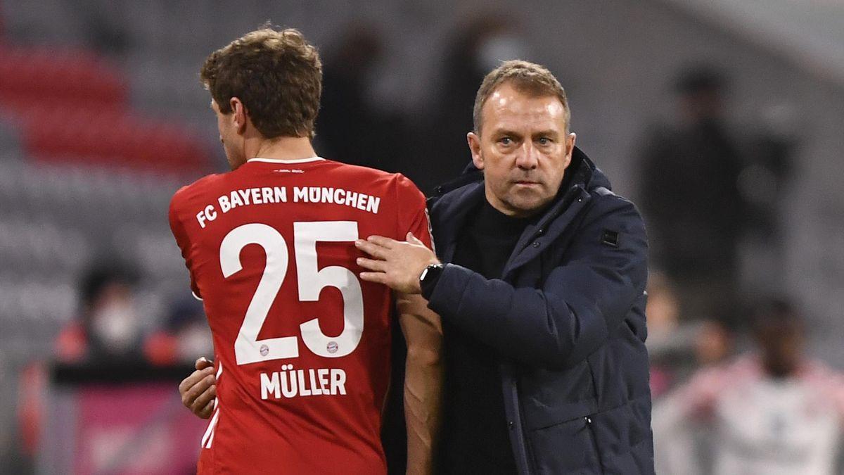 Thomas Müller (links) und Hans-Dieter Flick