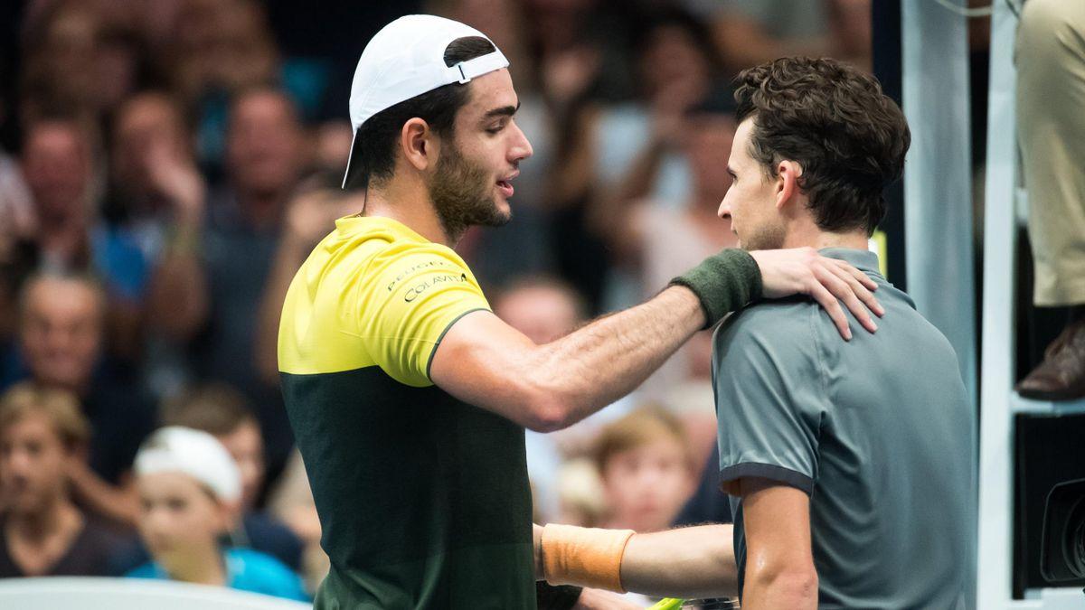 Matteo Berrettini și Dominic Thiem, după finala turneului de la Viena din 2019