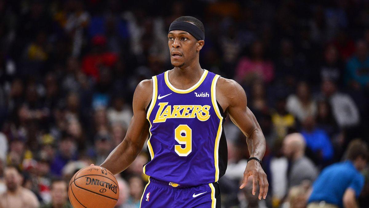 Rajon Rondo lors de Los Angeles Lakers - Memphis Grizzlies en NBA le 23 novembre 2019