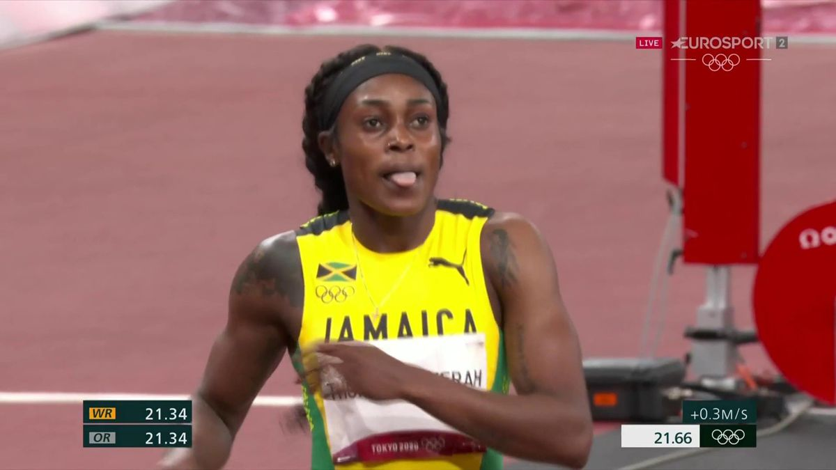 Did Thompson-Herah miss chance of 200m WR by slowing down?