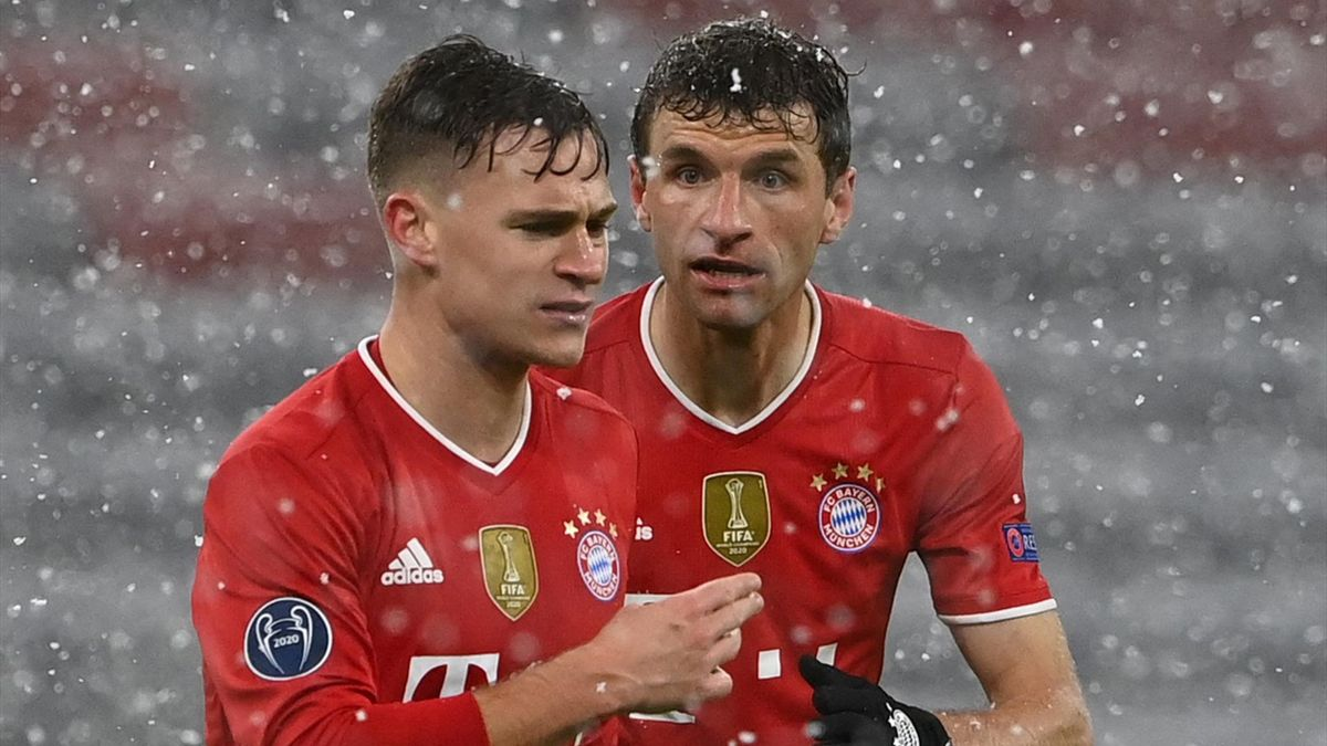 Joshua Kimmich (links) und Thomas Müller - FC Bayern