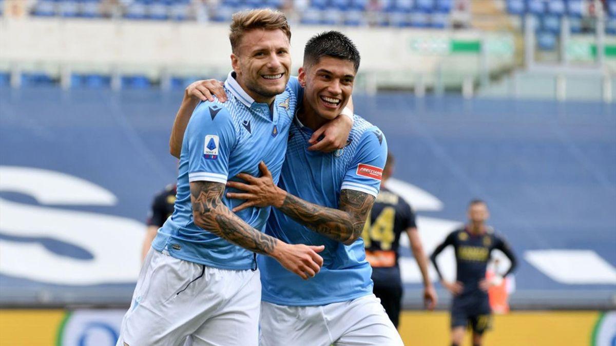 Ciro Immobile e Joaquin Correa - Lazio-Genoa Serie A 2020-21