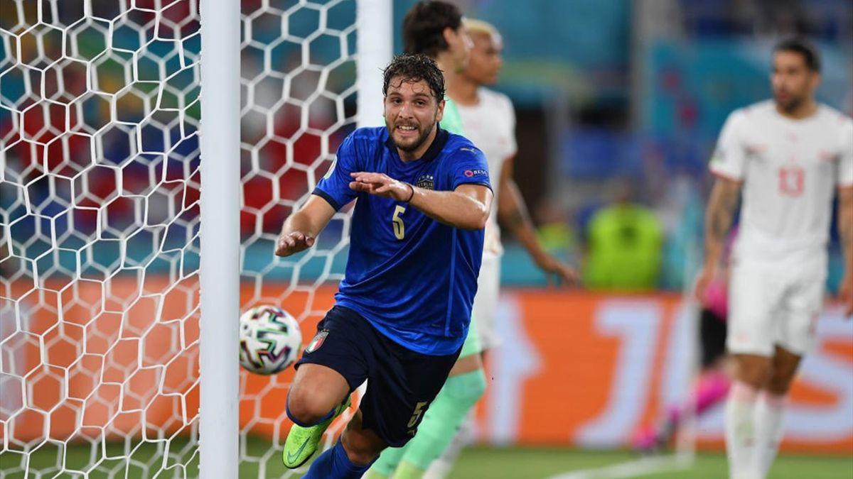 Italia-Svizzera, gol di Locatelli