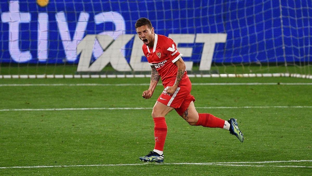 Papu Gomez a segno con il gol del 3-4 in Celta Vigo-Siviglia - Liga 2020/2021 - Getty Images