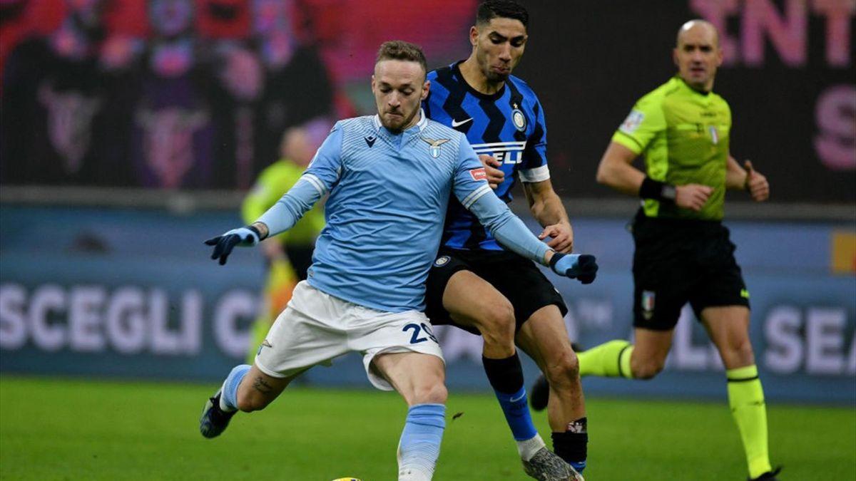 Manuel Lazzari, Hakimi - Inter-Lazio - Serie A 2020/2021 - Getty Images