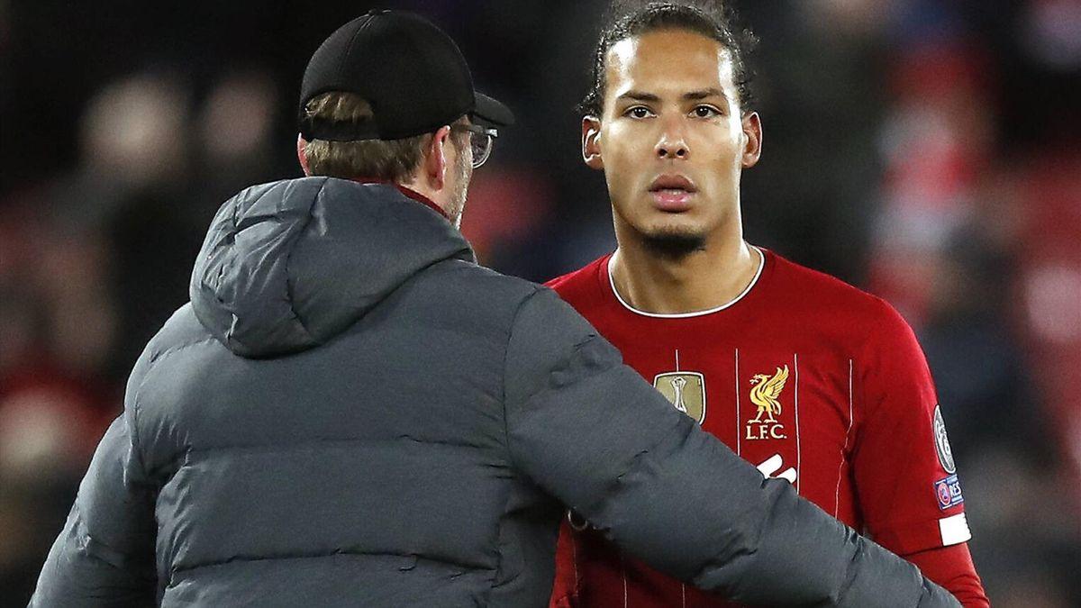 Virgil van Dijk und Jürgen Klopp vom FC Liverpool