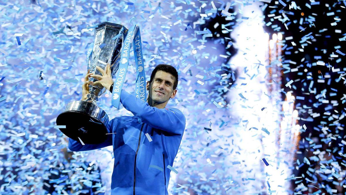 Novak Djokovic wins 2015 ATP Finals – PUB NOT IN UK FRA ESP SWE POL CHN