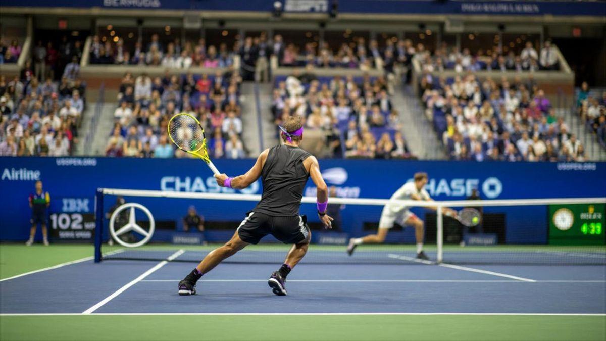 Rafael Nadal et Daniil Medvedev en finale de l'US Open 2019