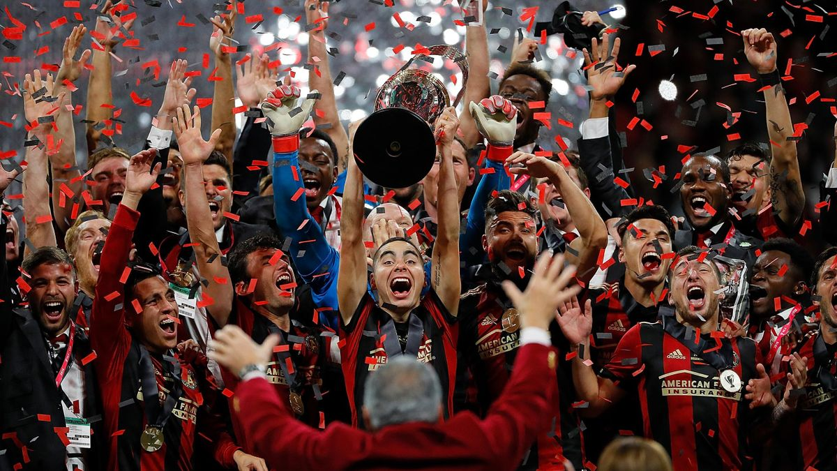 Atlanta FC celebrate winning the MLS Cup