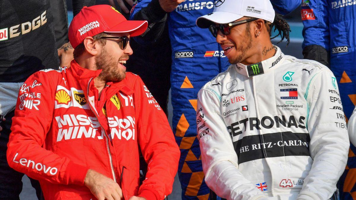 Vorgänger und Nachfolger? Sebastian Vettel (Ferrari, links) und Lewis Hamilton (Mercedes, rechts)