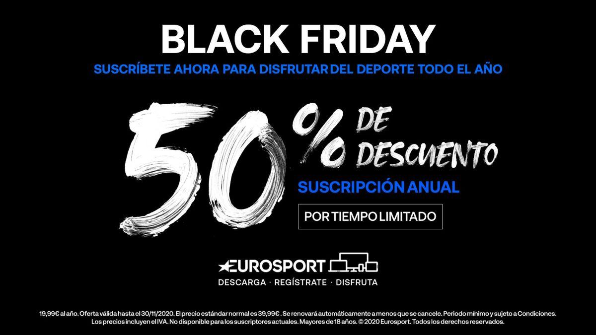 Eurosport Black Friday 2020: 50% de descuento en nuestro pase anual