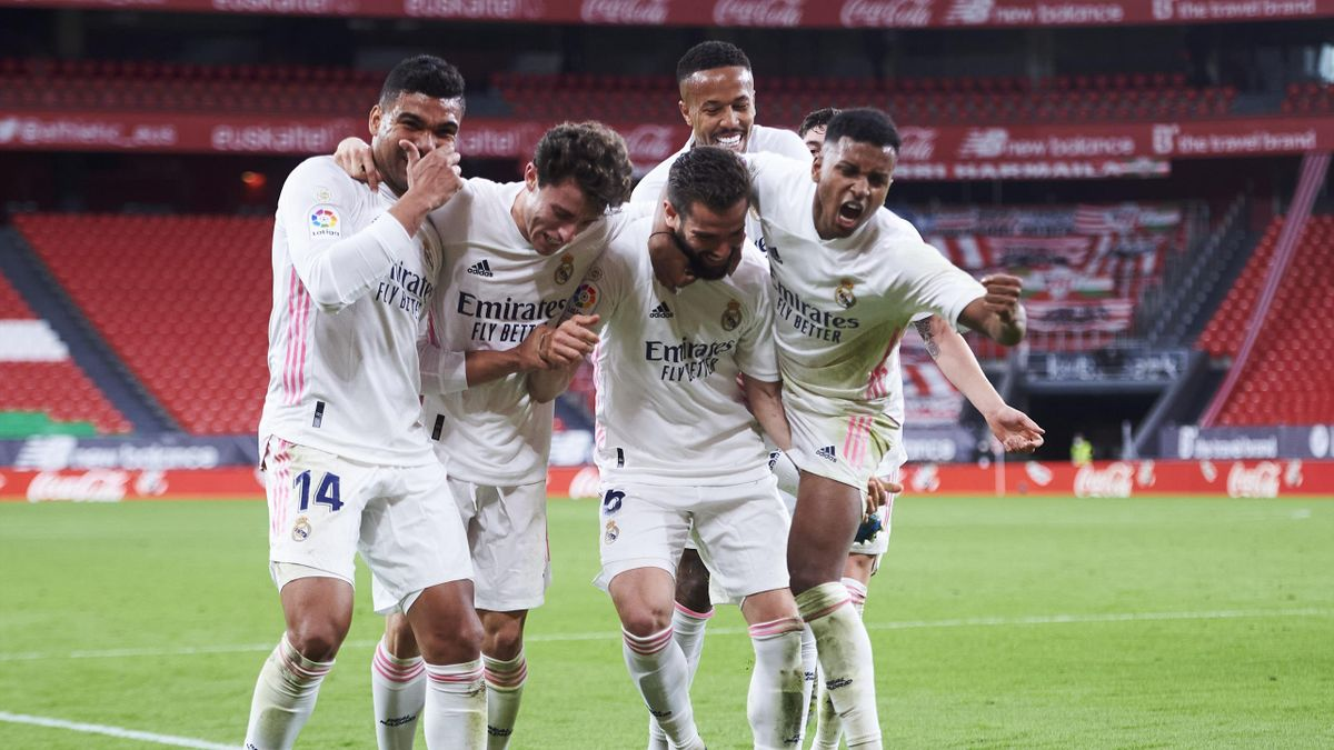 Real Madrid jubelt über den Sieg beim Athletic Bilbao