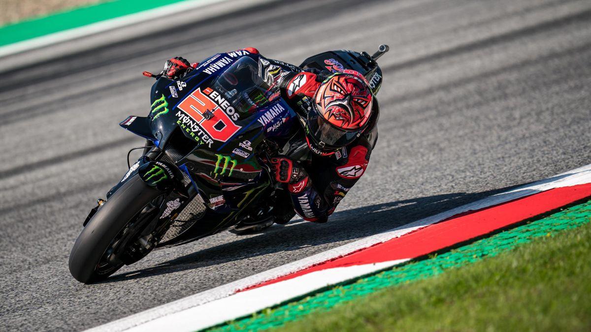 Fabio Quartararo (Yamaha) au Grand Prix de Styrie, le 7 août 2021