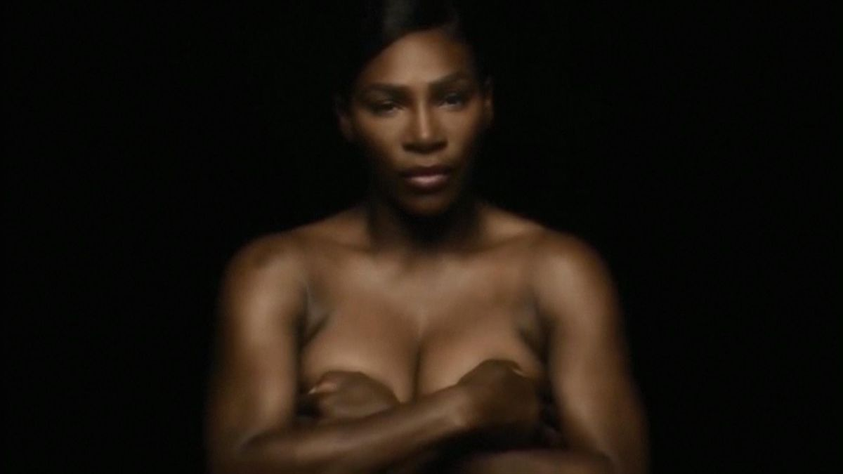 Serena Williams goes topless for breast cancer awareness