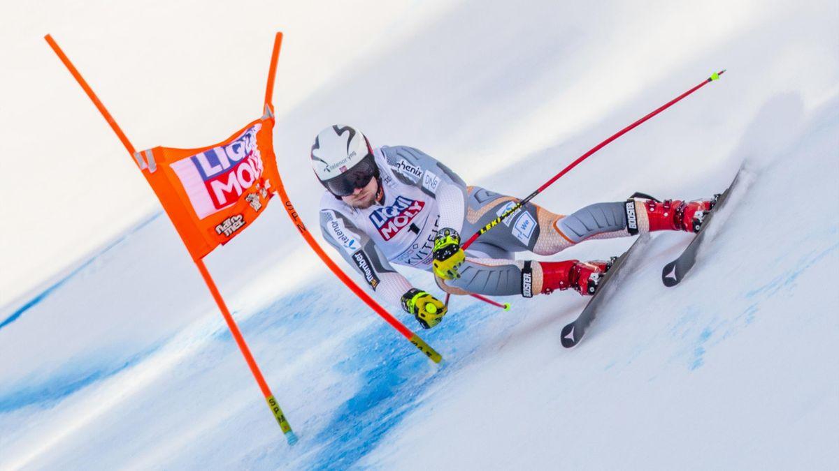 Aleksander Aamodt Kilde in action in Kvitfjell
