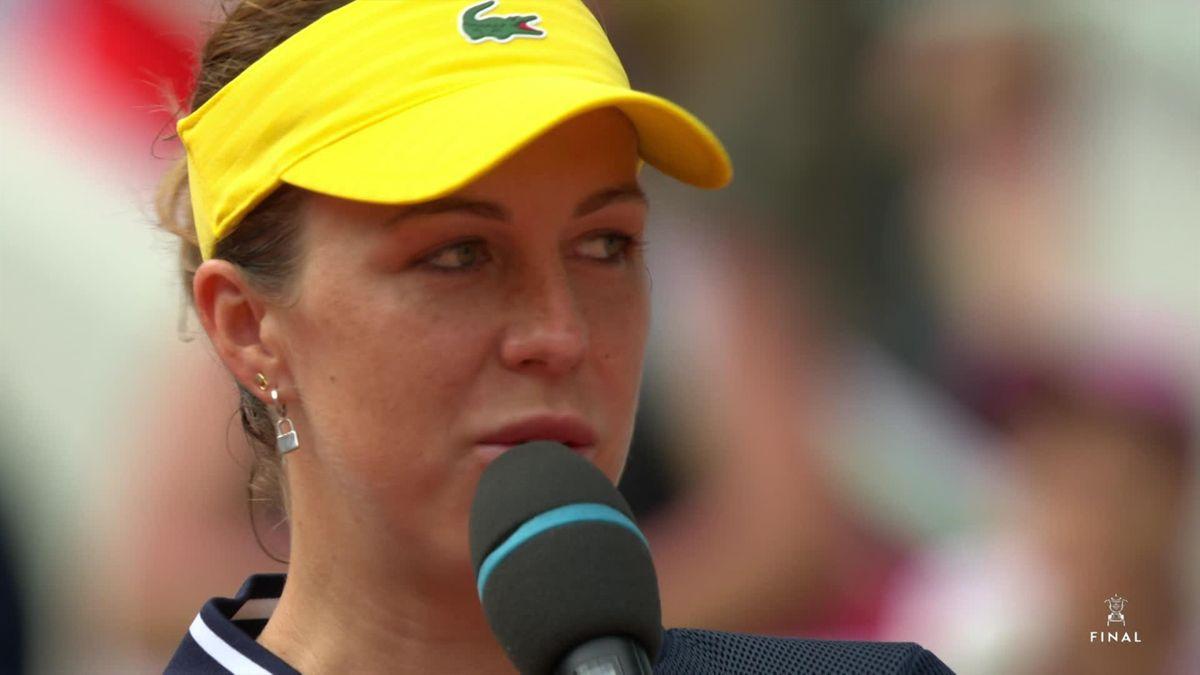 Roland Garros - Day 14 : Women's Final itw on court Pavlyuchenkova