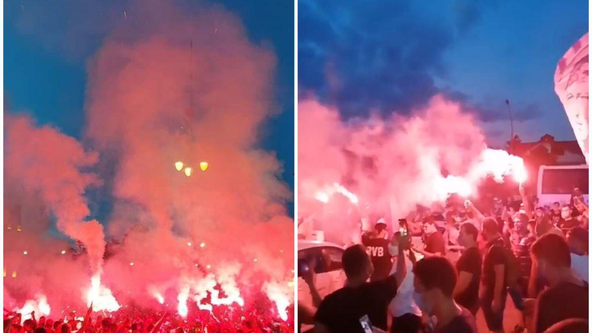 Fanii celor de la UTA Arad și FC Argeș, după promovarea în Liga 1