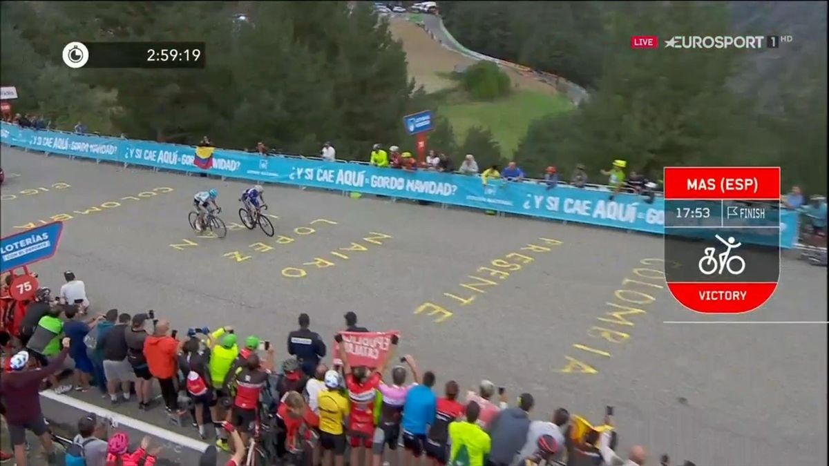 Key Moments stage 20 Vuelta