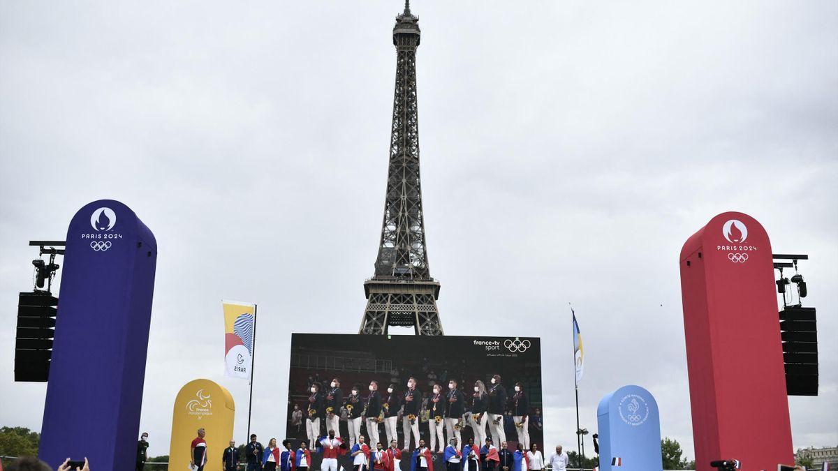 Le Trocadéro à l'heure olympique