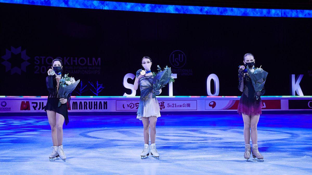 Елизавета Туктамышева, Анна Щербакова и Александра Трусова