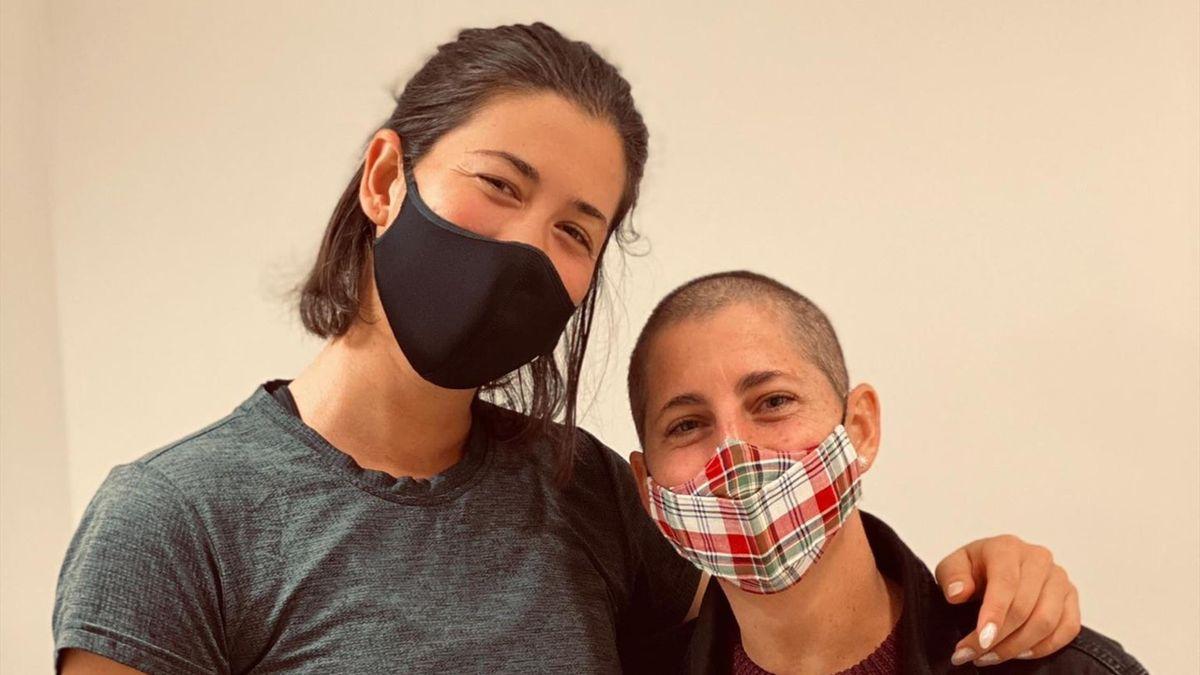 Garbiñe y Carla Suárez @GarbiMuguruza