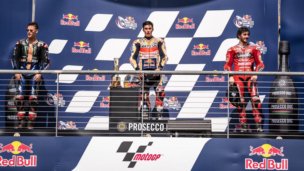 Fabio Quartararo, Marc Marquez, Pecco Bagnaia, MotoGP Austin, Getty Images
