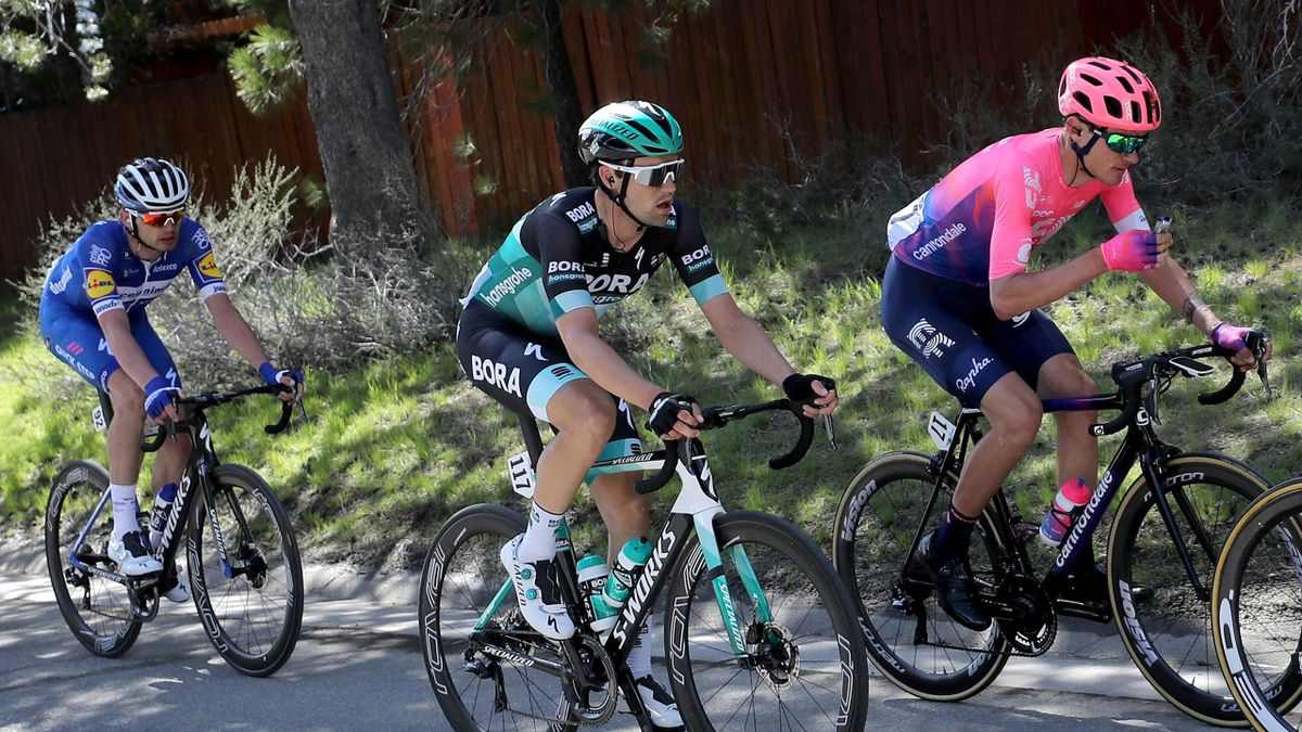 Maximilian Schachmann (m.), Tejay van Garderen (r.) - Tour of California 2019