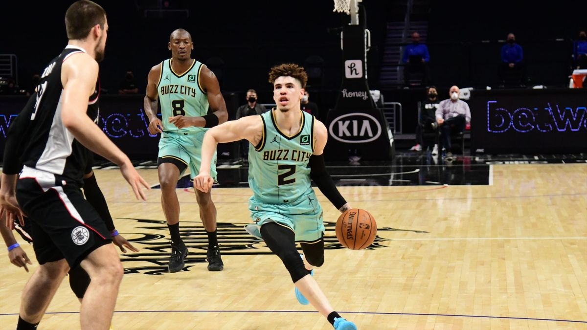LaMelo Ball face aux Clippers.