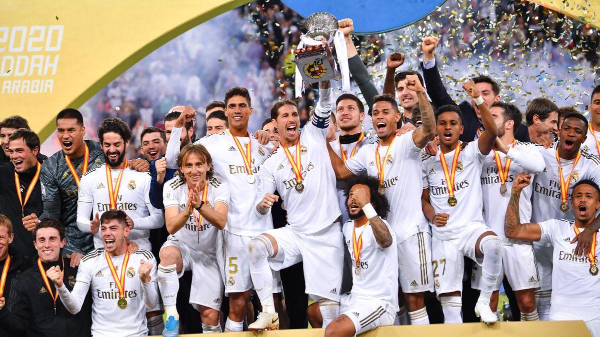 Le Real Madrid, vainqueur de la Supercoupe d'Espagne