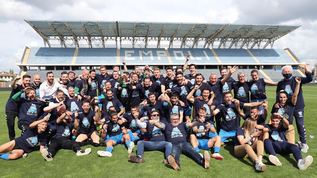 Empoli-Cosenza, Serie B 2020-2021, 4 maggio 2021: l'Empoli festeggia il ritorno in Serie A (Getty Images)
