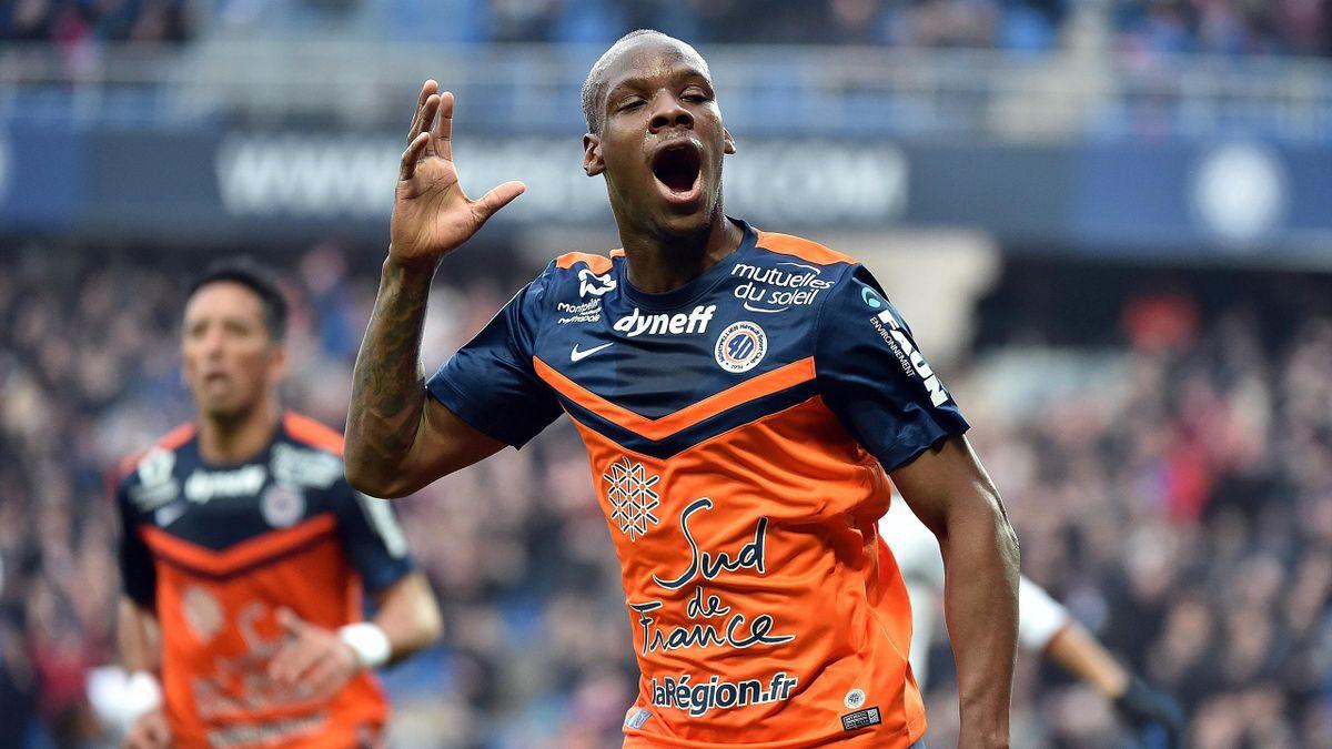 La joie de Bryan Dabo, le milieu de Montpellier, après son but face à Nice.