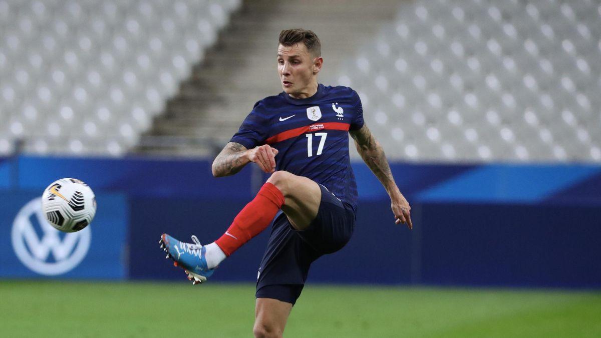 Lucas Digne lors de France - Ukraine