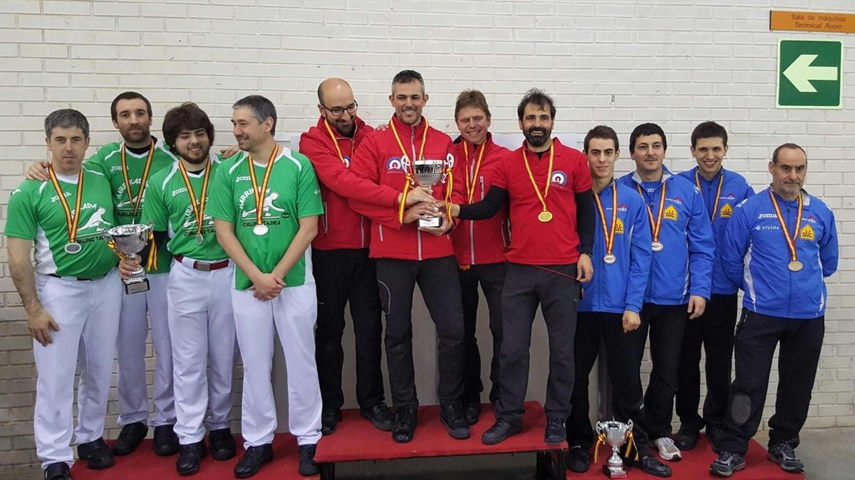 Podio del Campeonato de España masculino 2016