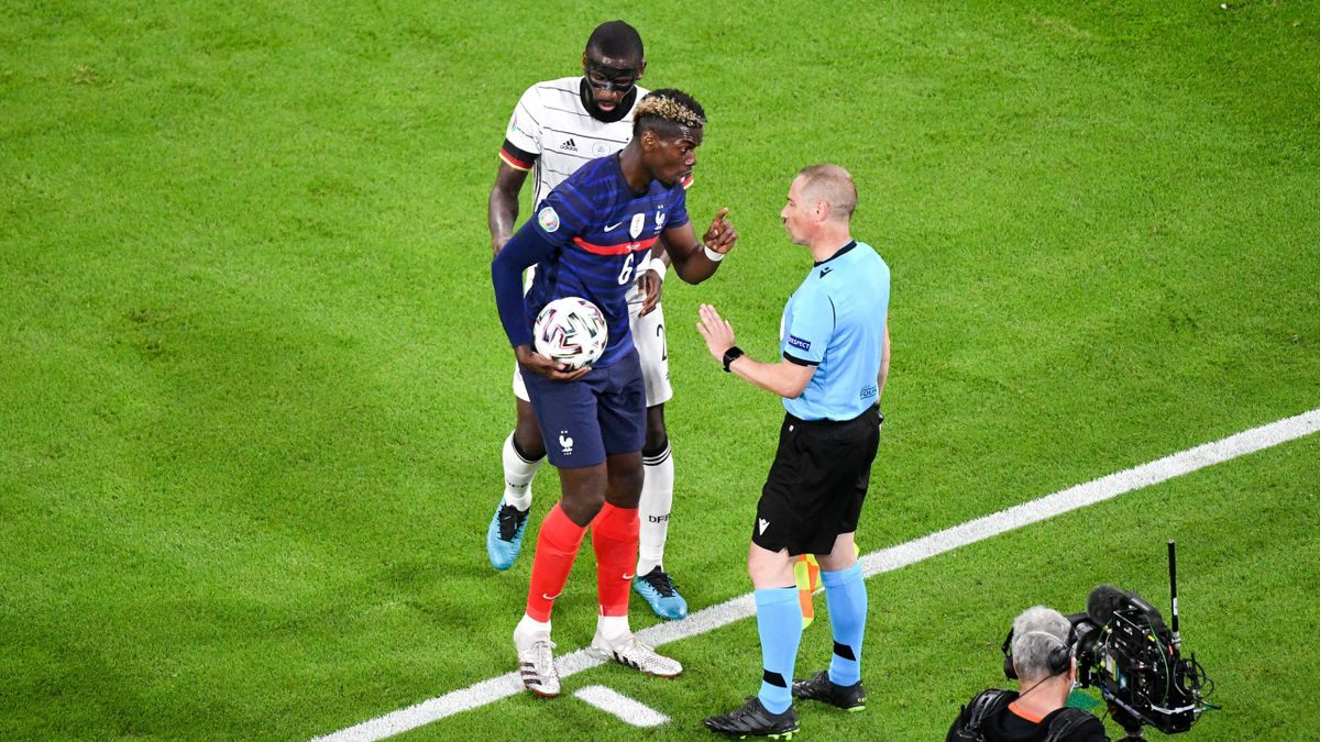 Antonio Rüdiger dà un morso a Pogba durante Francia-Germania - Europei 2021 - Imago pub not in FRA