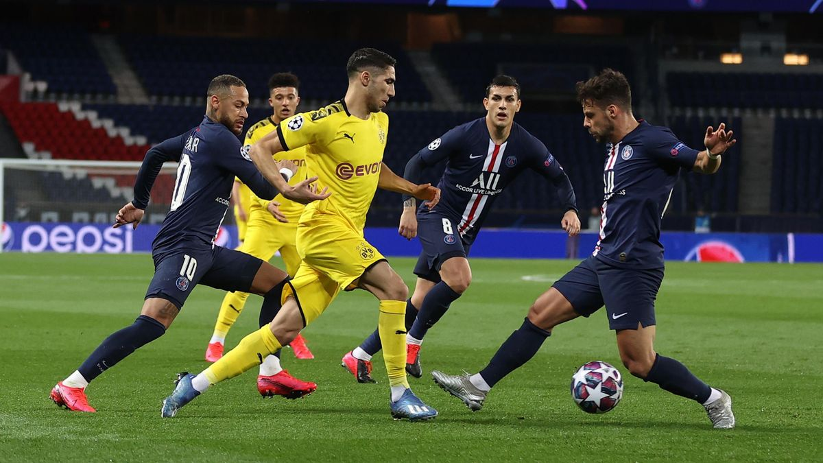 Achraf Hakimi von Borussia Dortmund gegen Paris St. Germain