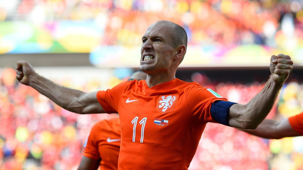 Arjen Robben im Trikot der deutschen Nationalmannschaft