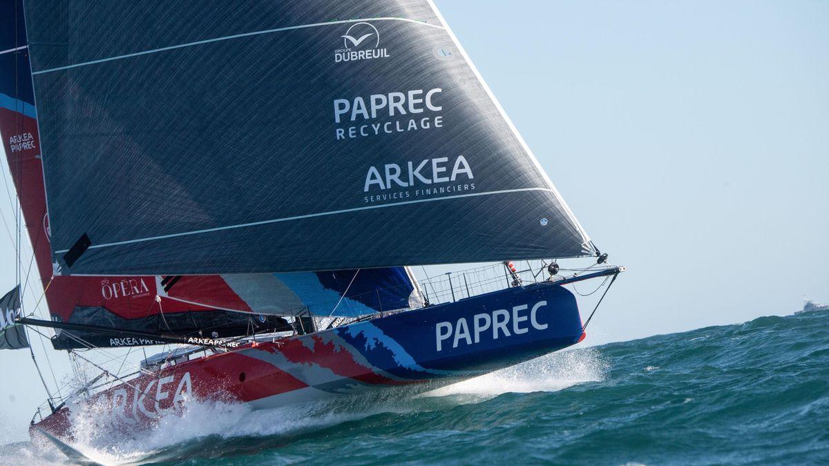 Sébastien Simon (Arkea Paprec) sur le Vendée Globe 2020