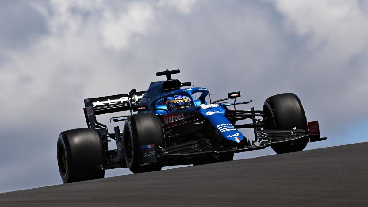 Fernando Alonso, en los libres 1 del Gran Premio de Portugal