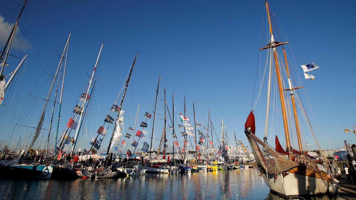 General view of vessels on the eve of the start of the Vendee Globe Challenge sailing race at Les Sables d'Olonne on France's Atlantic coast, western France, November 5, 2016