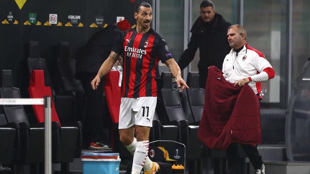 Zlatan Ibrahimovic n'a pas brillé lors du match AC Milan-Lille.