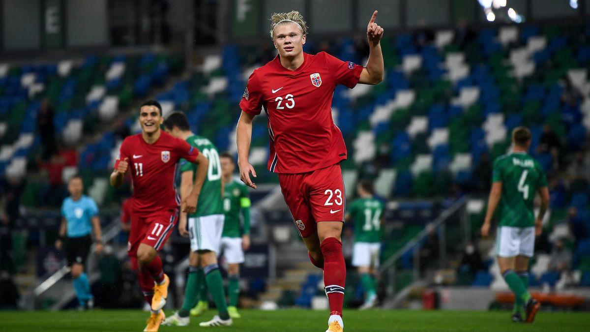 Erling Haaland (Norwegen) in der Nations-League-Partie gegen Irland