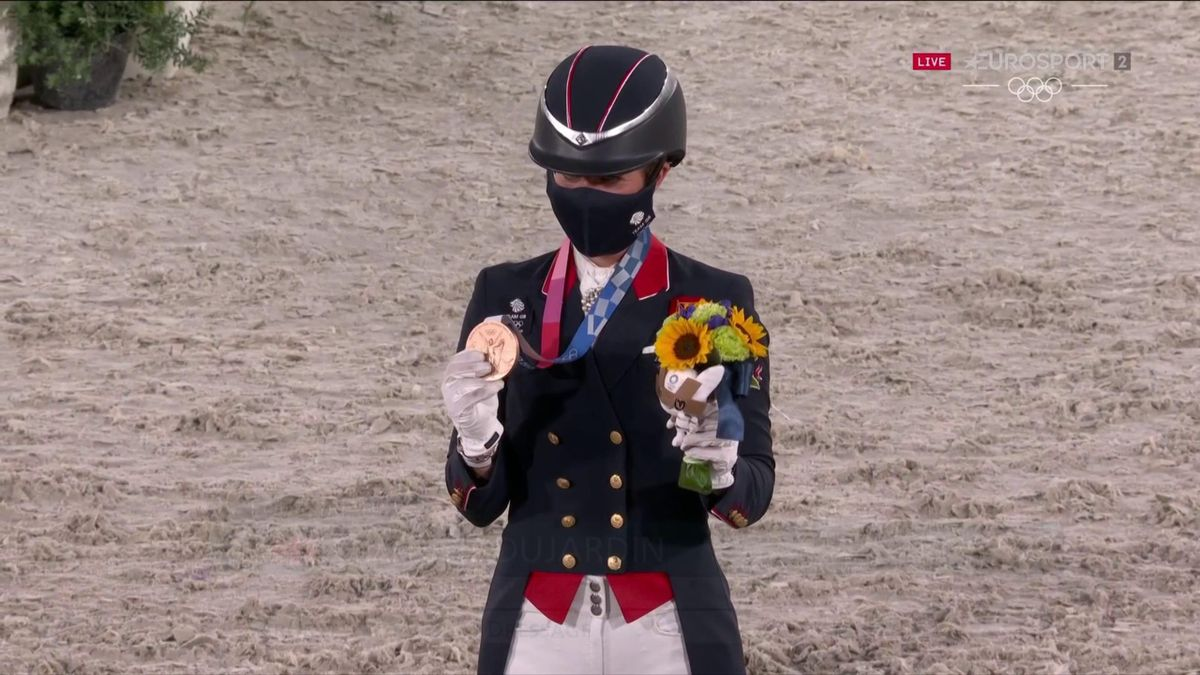 'Delighted' Dujardin becomes Britain's most decorated female Olympian