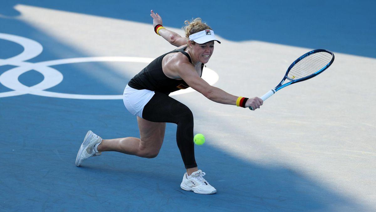 Laura Siegemund beim olympischen Tennisturnier in Tokio