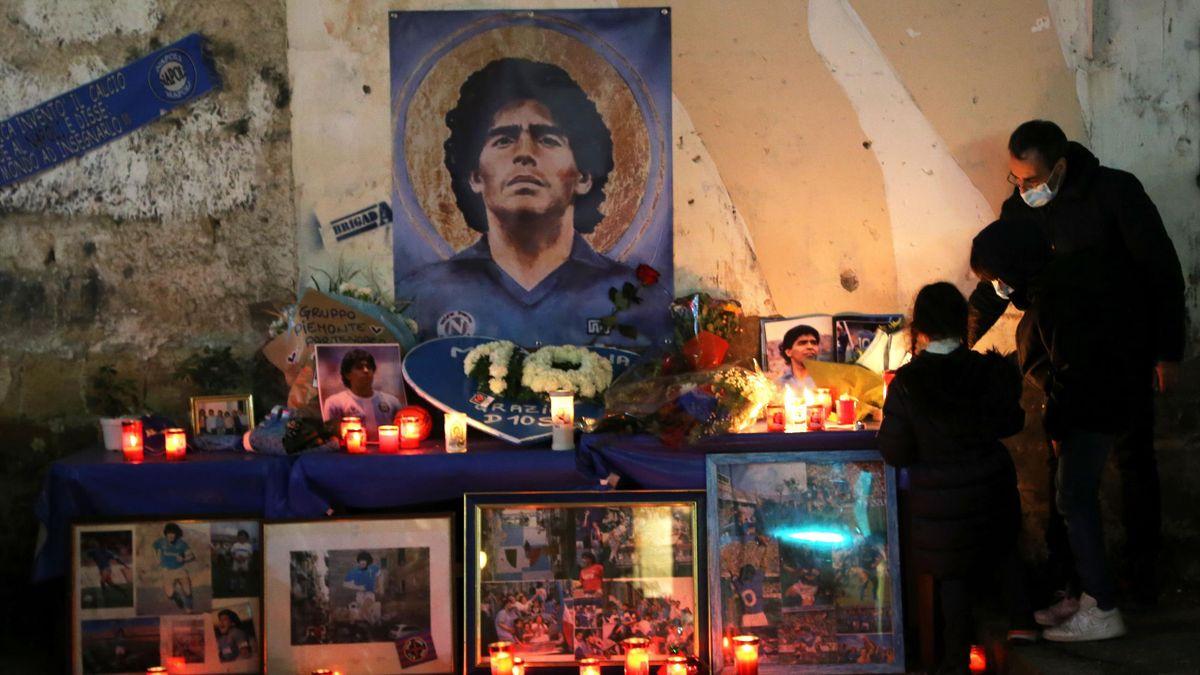 Fans erinnern an Diego Maradona