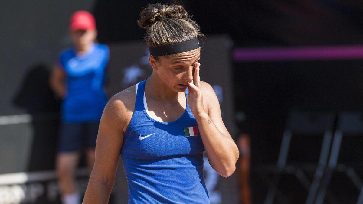 Sara Errani, Alison Van Uytvanck - Italy-Belgium - Fed Cup 2018 - Imago pub only in ITAxGERxSUIxAUT