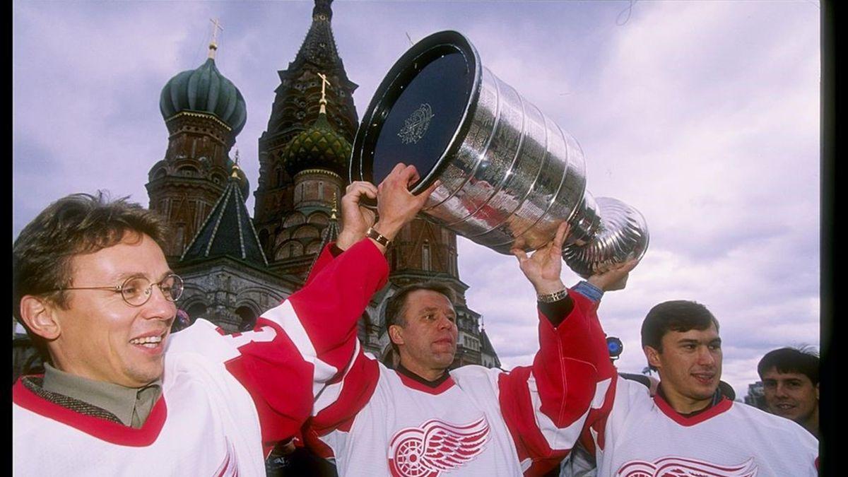 La Stanley Cup dei Detroit Red Wings sbarca a Mosca